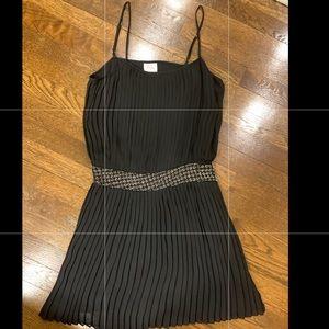 Parker size M cinched waist black pleated dress